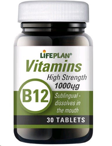 LIFEPLAN VITAMINA B12 1000MCG 30 COMPRIMITS SUBLINGUALS