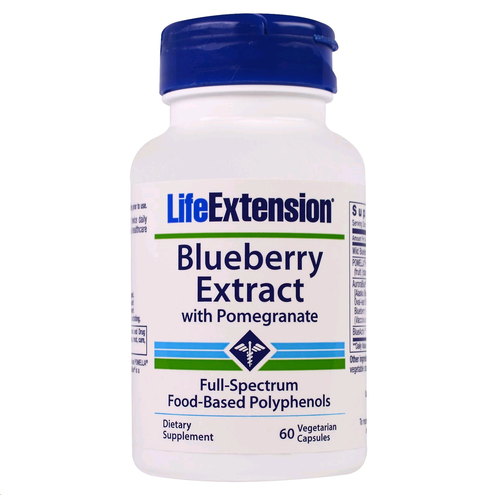 LIFE EXTENSION BLUEBERRY EXTRACT WITH POMEGRANATE 60 CAPSULES