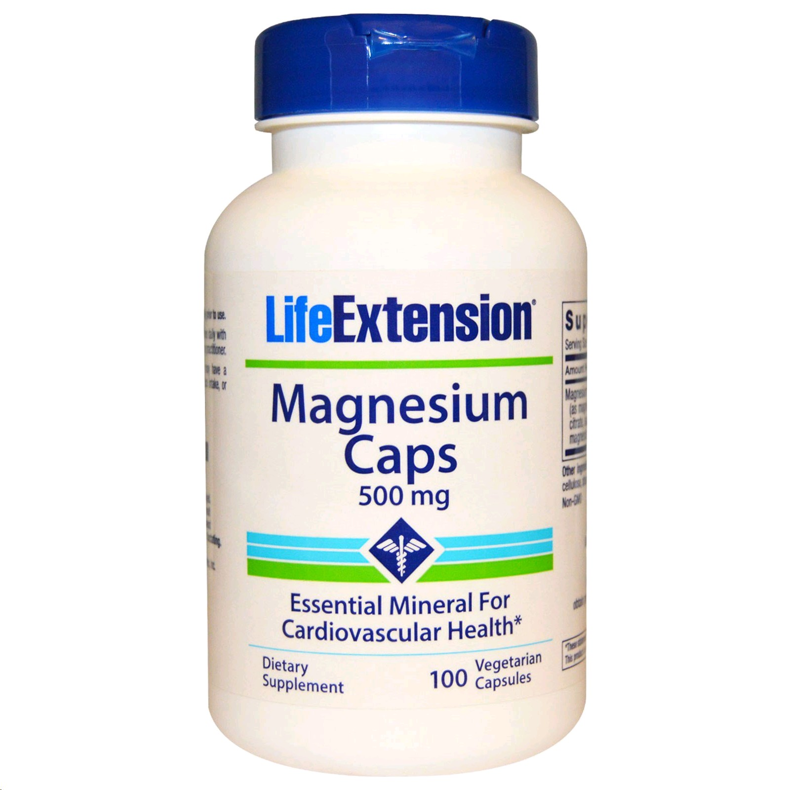 LIFE EXTENSION MAGNESIUM 500MG 100 CAPSULES