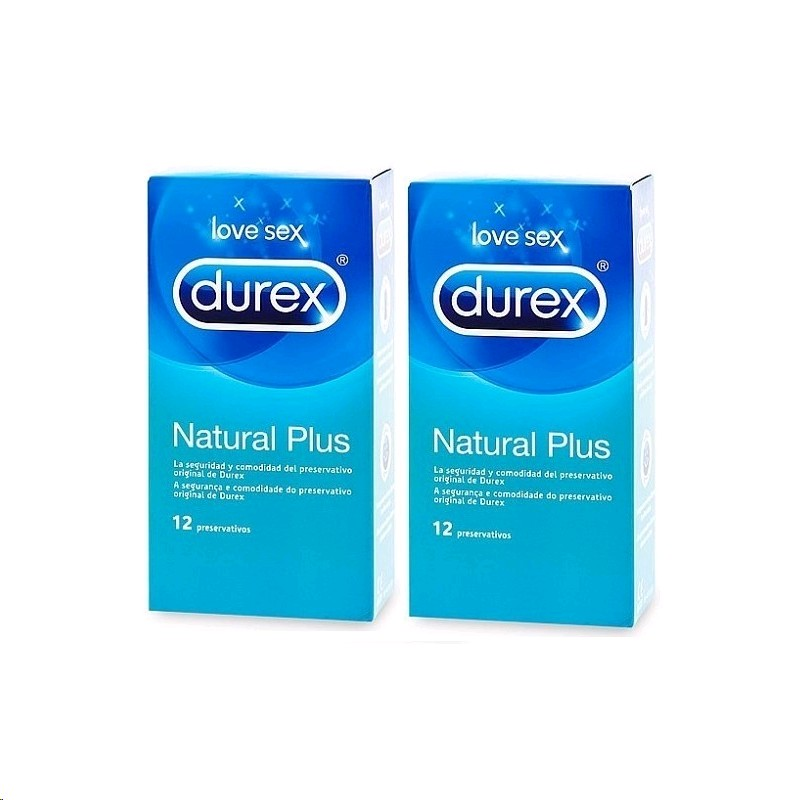 DUREX NATURAL PLUS DUO 2X12 PRESERVATIUS