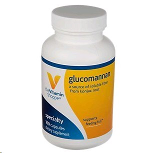 THE VITAMIN SHOPPE GLUCOMANNAN (KONJAC ROOT) 100 CAPSULES