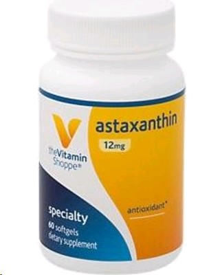THE VITAMIN SHOPPE  ASTAXANTHIN 60 CAPSULES BLANDES