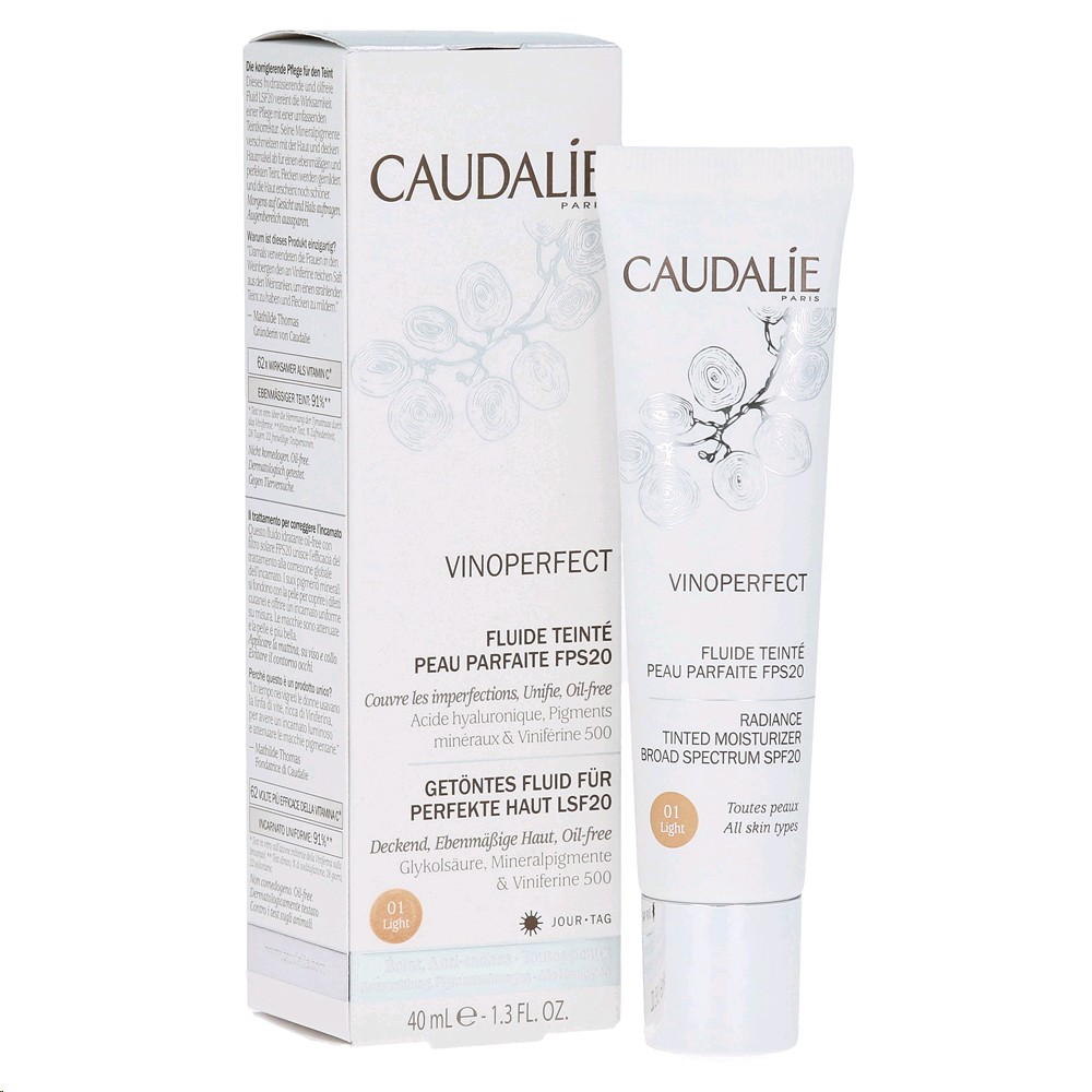 CAUDALIE VINOPERFECT FLUID AMB COLOR LIGHT 40ML